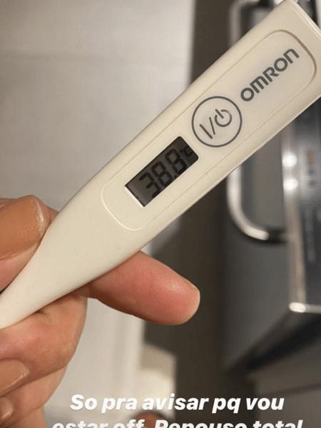 Gabriela Pugliese posta temperatura e diz que foi fazer teste para gripes e coronavírus - Reprodução