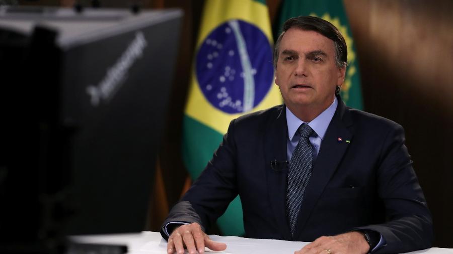 Bolsonaro falando para assembleia da ONU em 2020, de forma remota por conta da pandemia - BRAZILIAN PRESIDENCY