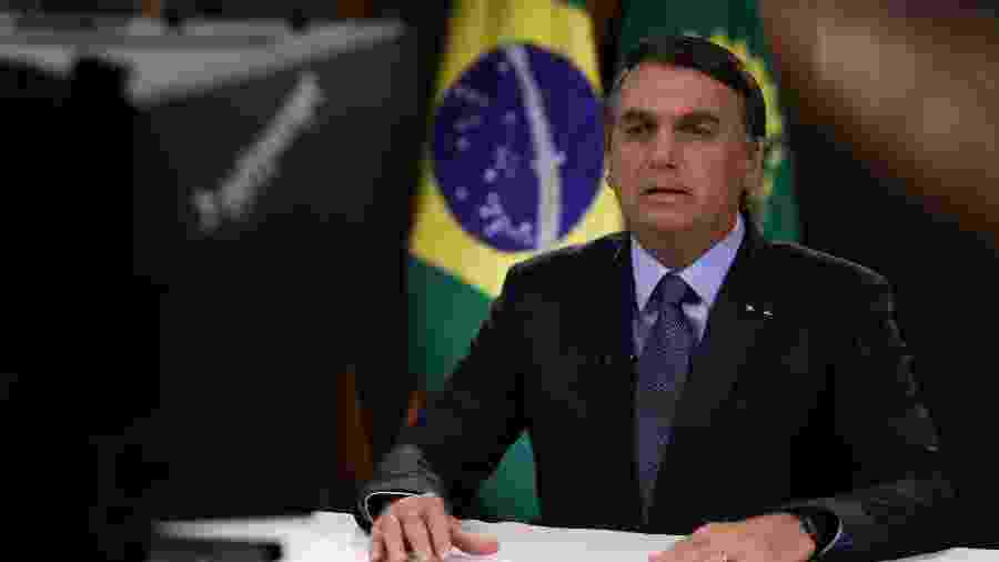 Bolsonaro falando para assembleia da ONU - BRAZILIAN PRESIDENCY
