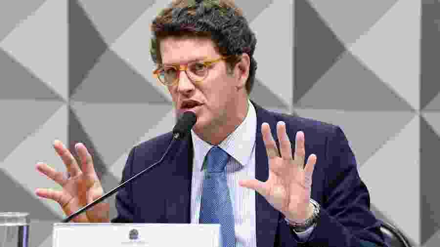 O ministro do Meio Ambiente, Ricardo Salles, chancelou documento feito por consultoria jurídica - Jefferson Rudy/Agência Senado