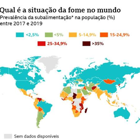 Situação da fome no mundo - Reprodução/BBC - Reprodução/BBC