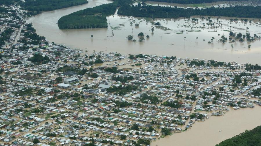 Acre decreta estado de calamidade pública devido a enchentes - Marcos Vicentti/Governo do Acre
