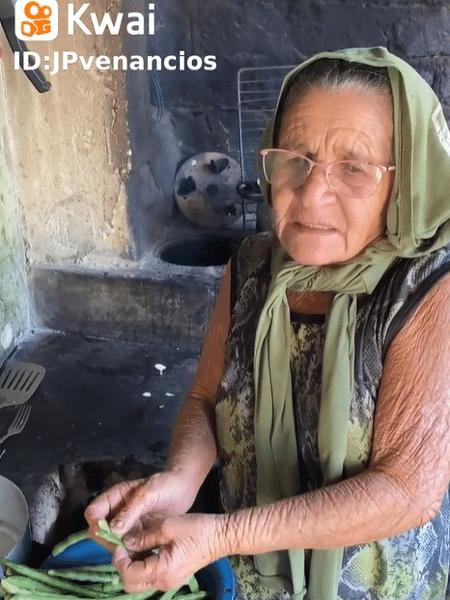 A avó do JP Venâncios, no Kwai - Reprodução