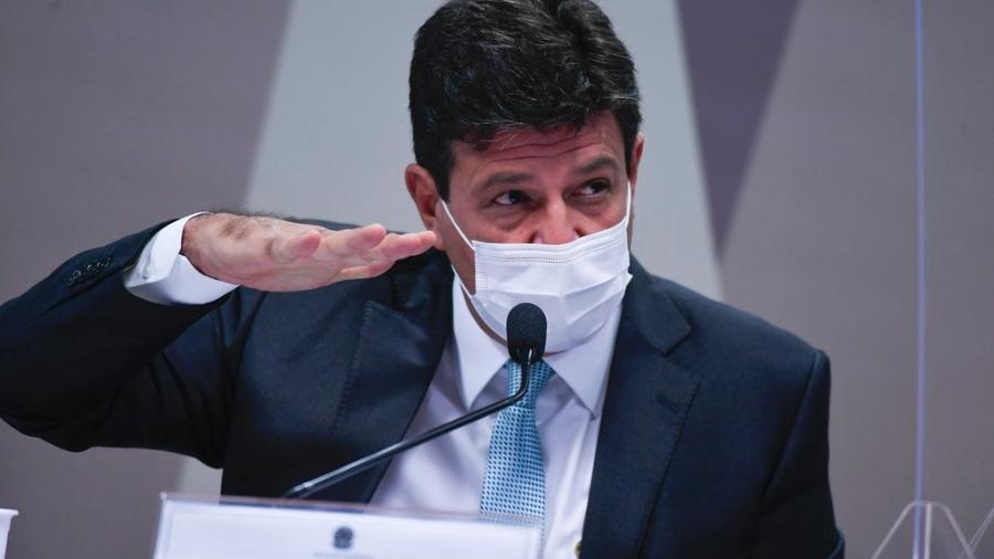 4.mai.2021 - Ex-ministro da Saúde, Luiz Henrique Mandetta, em depoimento à CPI da Covid no Senado - Edilson Rodrigues/Agência Senado