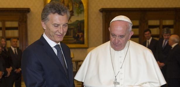 Papa Francisco se encontra com Mauricio Macri em audiência privada no Vaticano