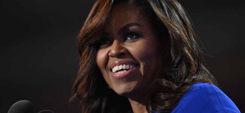 25.jul.2016 - A primeira-dama dos Estados Unidos, Michelle Obama, discursa na convenção do Partido Democrata, na cidade da Filadélfia - Nicholas Kamm/AFP