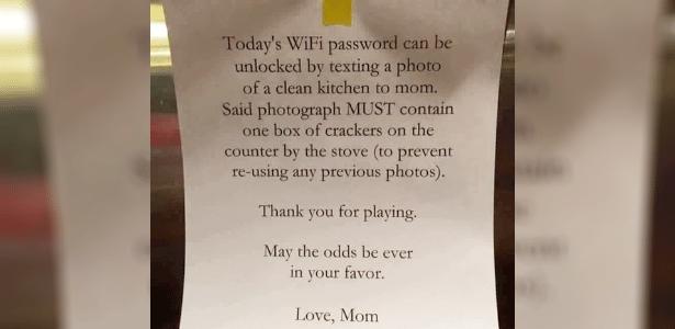 """Bilhete deixado por uma mamãe para um filho: """"Que a sorte esteja sempre a seu favor"""""""
