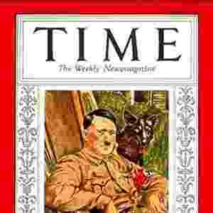 Adolf Hitler (1938) - Talvez a escolha mais polêmica de toda a história da revista, o líder nazista foi nomeado em 1938, um ano antes do início da Segunda Guerra Mundial, por ter anexado ao território alemão a Áustria e parte da Tchecoslováquia - Reprodução/Time