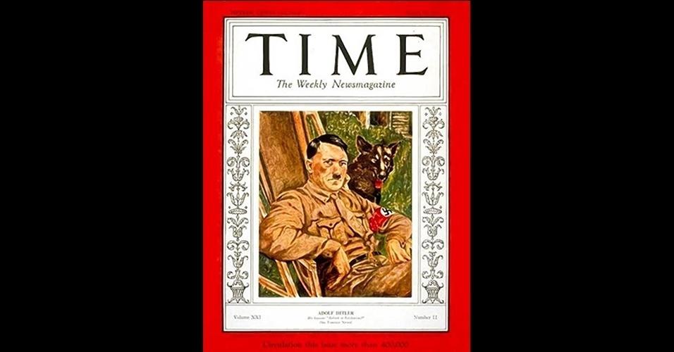 Adolf Hitler (1938) - Talvez a escolha mais polêmica de toda a história da revista, o líder nazista foi nomeado em 1938, um ano antes do início da Segunda Guerra Mundial, por ter anexado ao território alemão a Áustria e parte da Tchecoslováquia