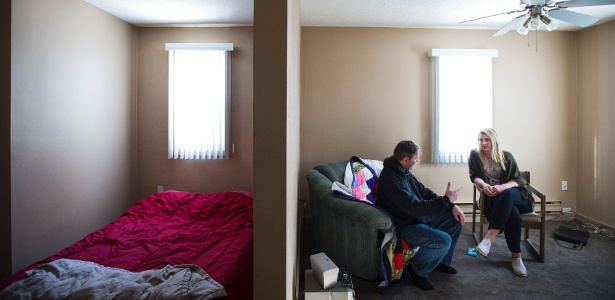 Kurt Rempel e Alyssa Larmor, do primeiro programa de habitação para Saúde Mental do Canadá