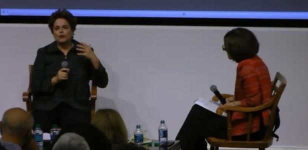 A ex-presidente Dilma participa de evento realizado pela Universidade de Harvard e o MIT