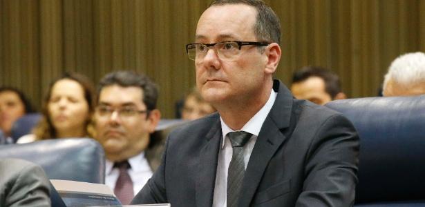 10.out.2013 - Paulo Ricardo Stark, presidente da Siemens do Brasil, durante sessao da CPI dos Transportes