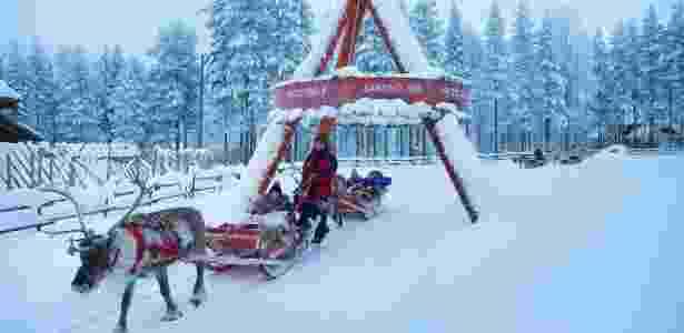 É possível fazer um passeio de trenó de rena em Rovaniemi, Finlândia - ILVY NJIOKIKTJIEN/NYT - ILVY NJIOKIKTJIEN/NYT