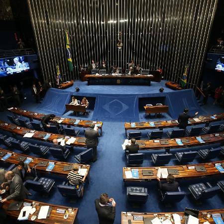 20.fev.2018 - Vista do plenário do Senado, em Brasília, durante sessão de votação - ANDRÉ DUSEK/ESTADÃO CONTEÚDO