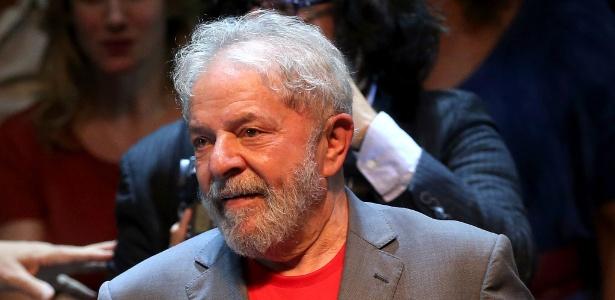 2.abr.2018 - O ex-presidente Luiz Inácio Lula da Silva (PT) ato no Rio de Janeiro - Wilton Júnior/Estadão Conteúdo