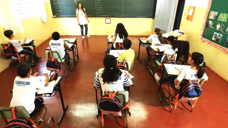 Emeb (Escola Municipal de Educação Básica) da Fazenda Tapari, em Pedregulho (SP) - Edson Silva/Folhapress