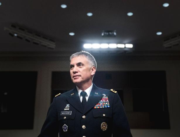 1.mar.2018 - General Paul Nakasone, chefe do Comando Cibernético dos EUA e da Agência Nacional de Segurança, em audiência do Comitê de Serviços Armados do Senado no Capitólio, em Washington (EUA) - Erin Schaff/The New York Times
