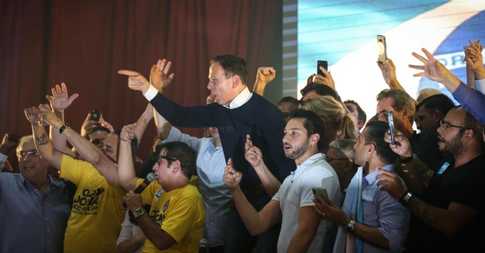28.out.2018: João Doria durante coletiva no clube Homs após ser eleito governador do estado de São Paulo