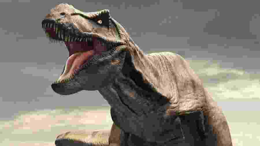 O tiranossauro rex aterrorizou suas presas durante o período Cretáceo - Science Photo Library