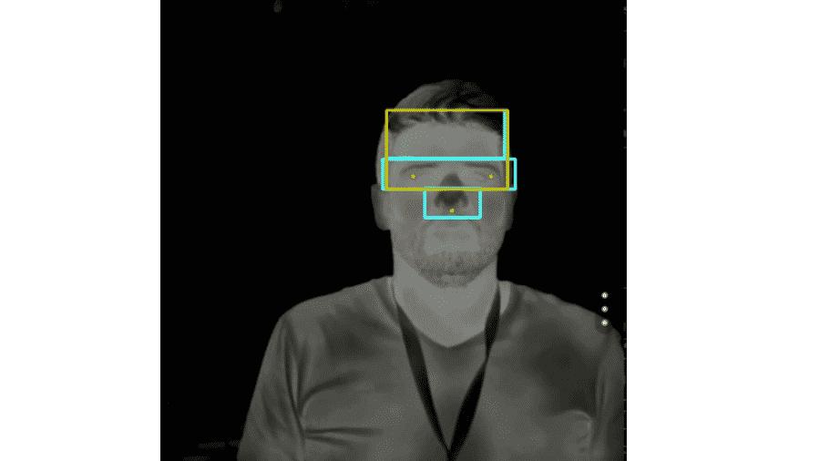 Termômetro detecta rosto e faz leitura de dutos lacrimais - Agência Fapesp
