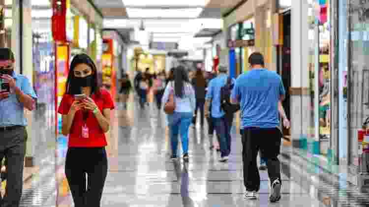1º.jun.2020 - Movimento no Vale Sul Shopping, em São José do Campos, interior de São Paulo - Lucas Lacaz Ruiz/Estadão Conteúdo - Lucas Lacaz Ruiz/Estadão Conteúdo