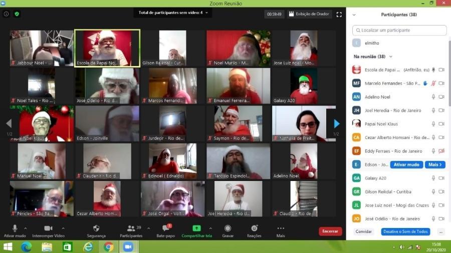Escola de Papai Noel do Brasil aposta em aula online e ensina a fazer vídeos - Divulgação