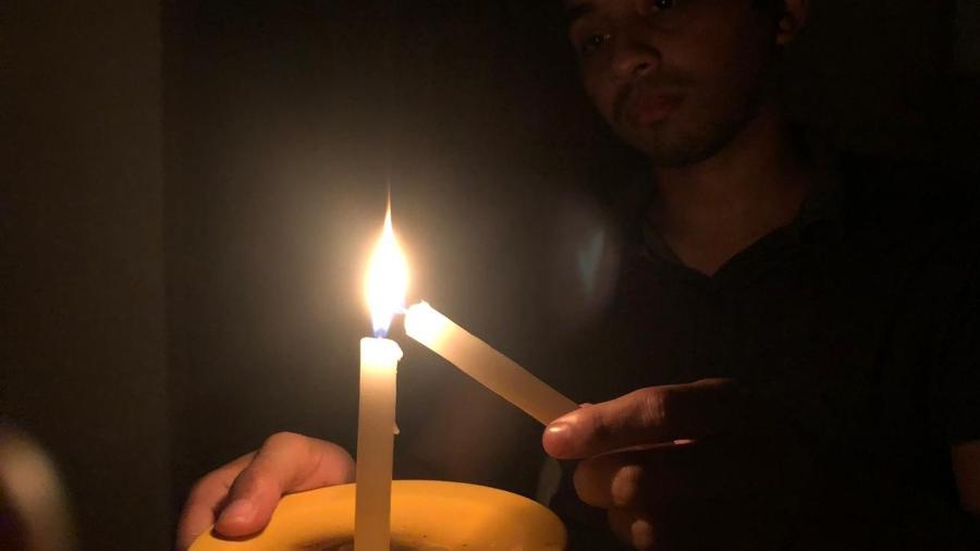 Comunidade quilombola usa velas para iluminar espaços durante o apagão - Arquivo pessoal