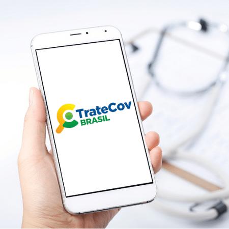 TrateCOV, logotipo do app do ministério da saúde - Divulgação