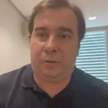 O ex-presidente da Câmara Rodrigo Maia voltou a criticar Bolsonaro em redes sociais - Reprodução