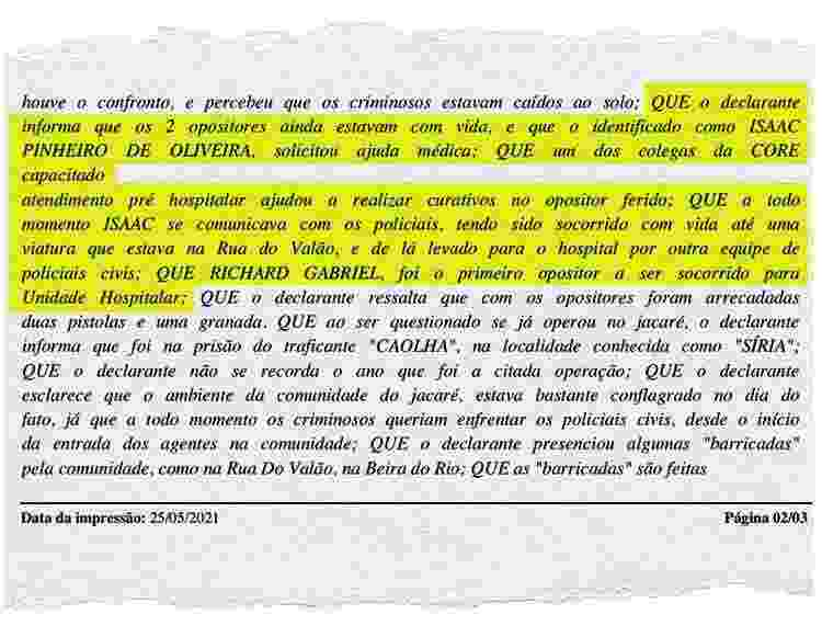 Declarante Jacarezinho - Arte/UOL - Arte/UOL