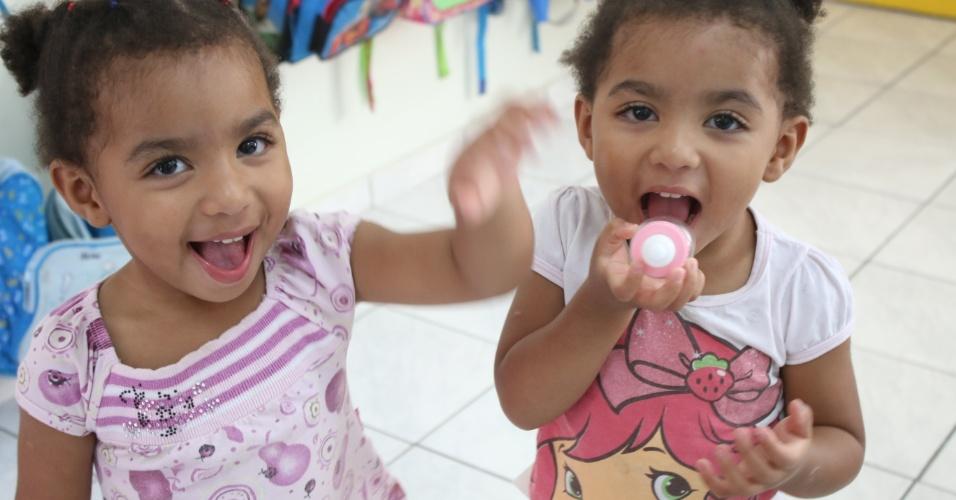Letícia e Eduarda - Seis duplas de gêmeos estão na mesma creche em Florianópolis
