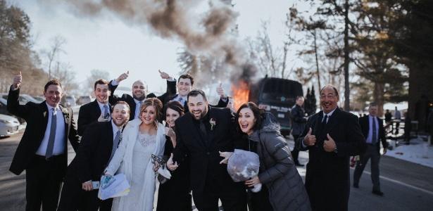 Incêndio começou a caminho do casamento