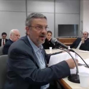 Antonio Palocci durante depoimento ao juiz Sergio Moro em Curitiba