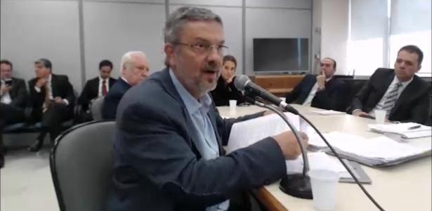 Antonio Palocci depõe ao juiz Sergio Moro em Curitiba