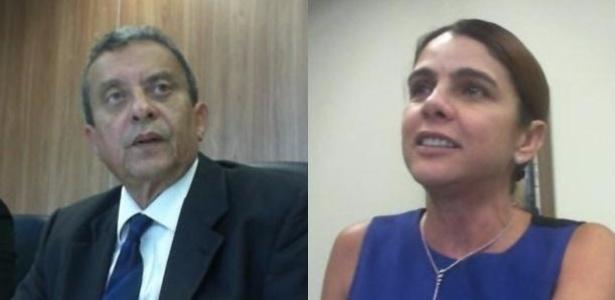 João Santana e sua mulher, Mônica Moura, durante gravação de suas delações