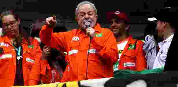 Lula discursa na frente da Petrobras - FÁBIO MOTTA/ESTADÃO CONTEÚDO - FÁBIO MOTTA/ESTADÃO CONTEÚDO