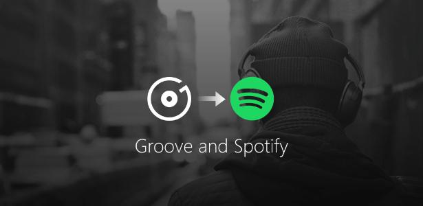 Microsoft vai encorajar que usuários do Groove, seu serviço de streaming, migre para o Spotify - Divulgação