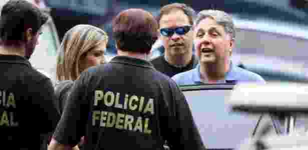 22.nov.2017 - O ex-governador Anthony Garotinho deixa a sede da Polícia Federal no Rio - Jose Lucena/Futura Press/Estadão Conteúdo