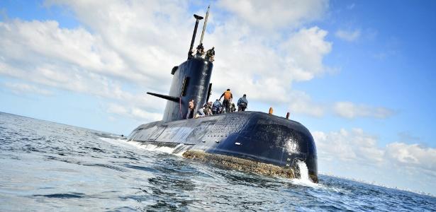 O submarino argentino ARA San Juan em imagem de 2010