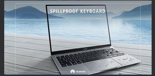 O novo notebook da Huawei também tem proteção contra água