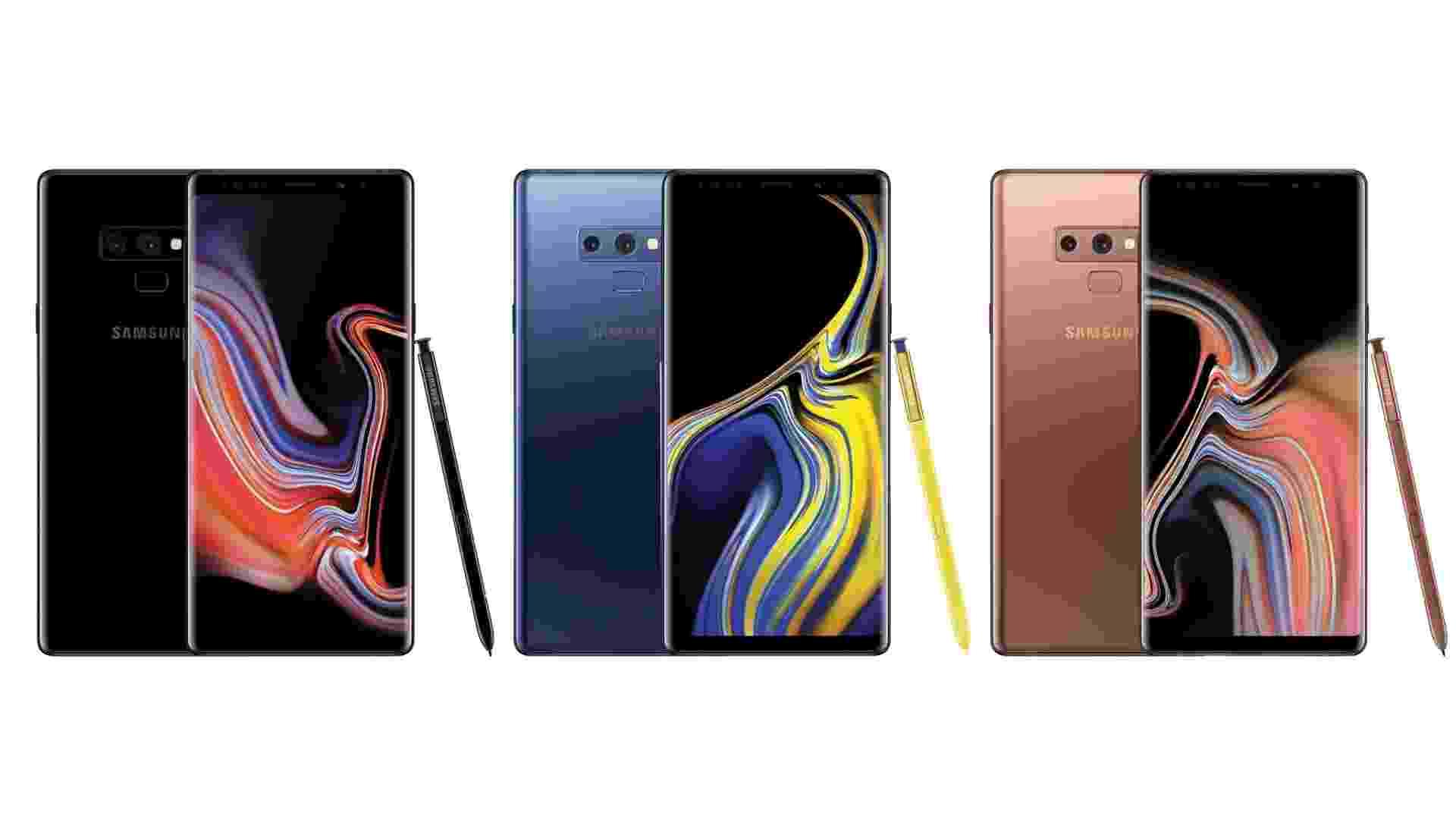 24.jul.2018 - Supostos visuais do Galaxy Note 9 divulgados pelo jornalista Evan Blass - Reprodução/Twitter @evleaks