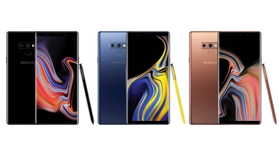 24.jul.2018 - Supostos visuais do Galaxy Note 9 divulgados pelo jornalista Evan Blass