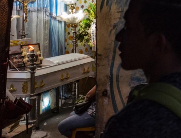 Velório de Allan Rafael, em Caloocan, nas Filipinas - Jes Aznar/The New York Times