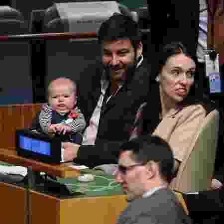 Durante conferência da ONU, acompanhada pela família - Carlo Allegri/Reuters