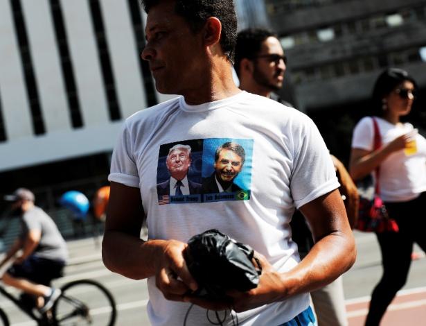 Alguns eleitores de Bolsonaro contribuem com a comparação com o presidente americano, Donald Trump - Nacho Doce/Reuters