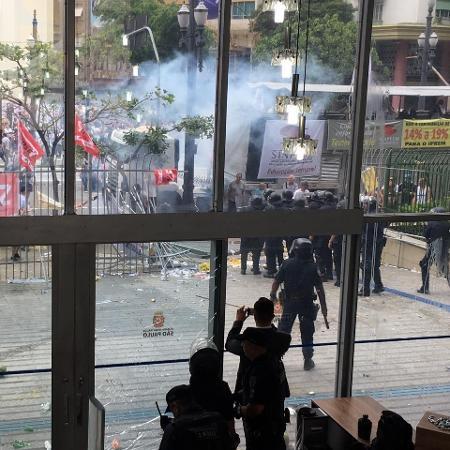 Protesto contra reforma da Previdência municipal  - Guilherme Mazieiro