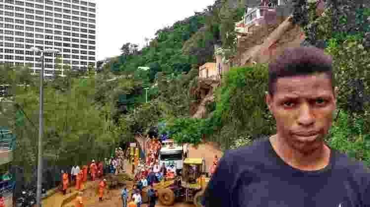O motorista Wiverson da Silva, 29, sobreviveu por pouco a deslizamento que matou ao menos uma pessoa que estava no interior de um ônibus soterrado na noite de quarta-feira (6) no Rio - Gabriel Sabóia/UOL - Gabriel Sabóia/UOL