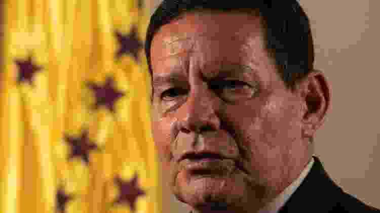 21.fev.2019 - Vice-presidente da República, general da reserva Hamilton Mourão - Sérgio Lima/AFP - Sérgio Lima/AFP