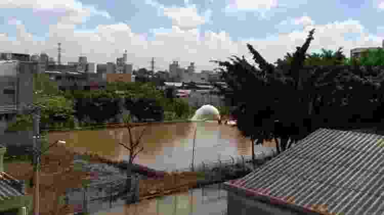 Piscinão no bairro Rudge Ramos, em São Bernardo do Campo - Arquivo pessoal - Arquivo pessoal