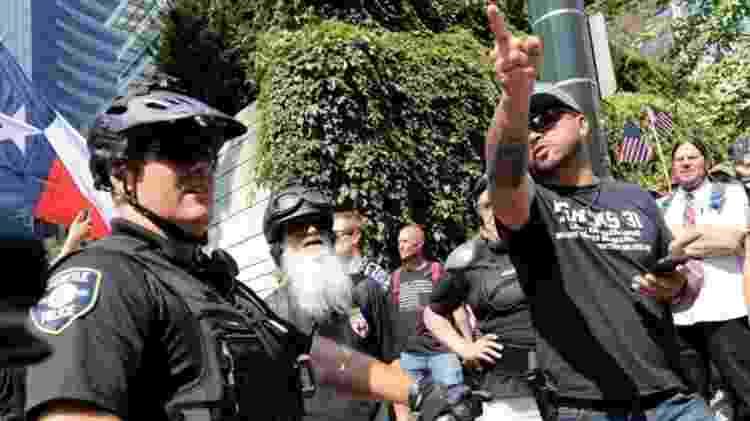 manifestações em protland - Getty Images - Getty Images